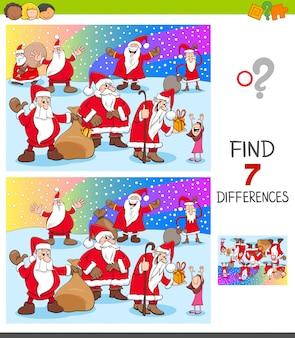 Encontre diferenças com personagens de natal