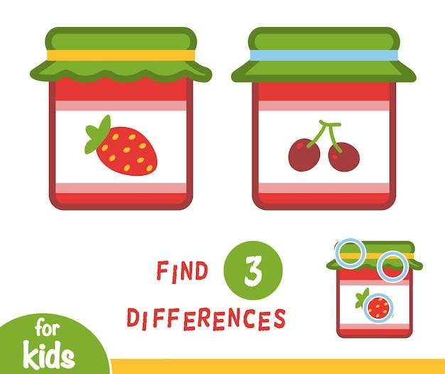 Encontre diferenças jogo de educação para crianças, jam-jar 1