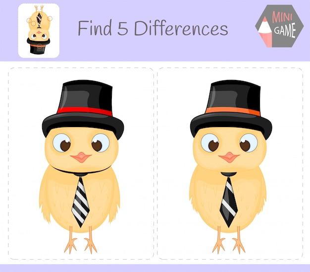Encontre diferenças, jogo educativo para crianças.