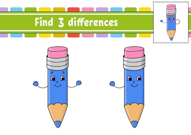 Encontre diferenças.