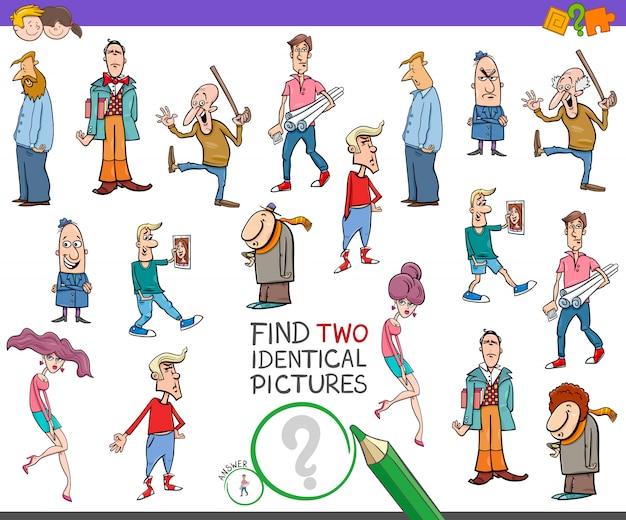 Encontre duas imagens idênticas jogo educativo para crianças
