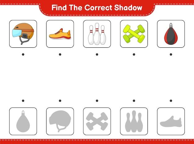 Encontre e combine a sombra correta de hockey helmet shoes bowling pin halteres e punching bag