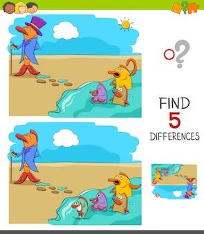 Encontre jogo de diferenças para crianças
