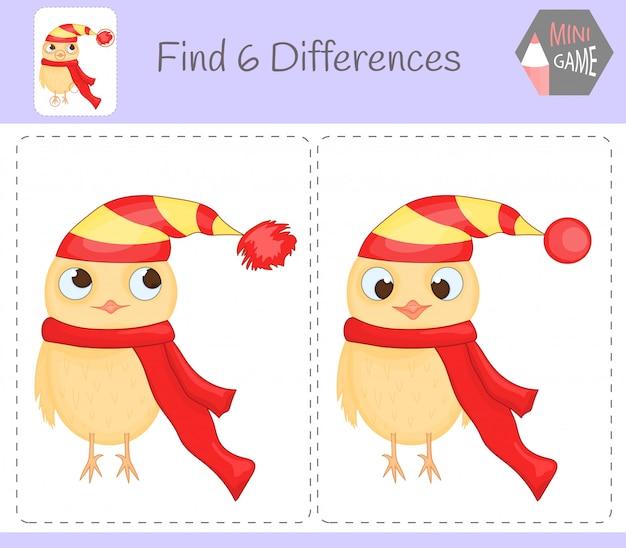 Encontre jogo educativo de diferenças