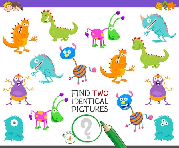 Encontre o jogo educacional das imagens idênticas para miúdos