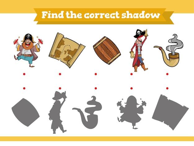 Encontre o jogo educacional de sombra correto para crianças