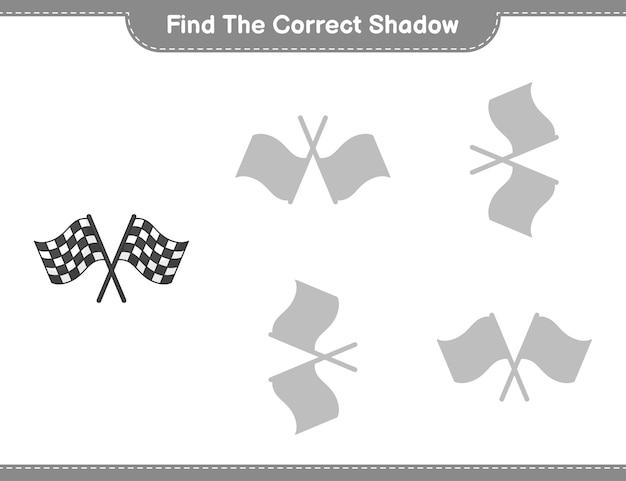 Encontre o jogo educacional infantil sombra correto
