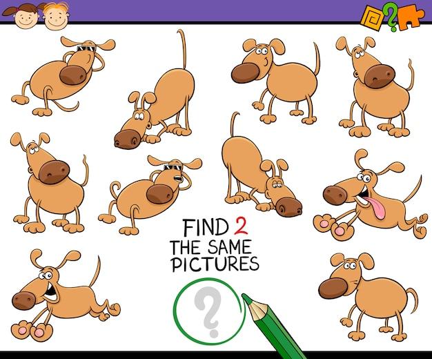 Encontre o mesmo desenho do jogo de imagem
