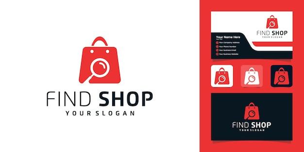 Encontre o modelo do logotipo da loja e cartões de visita