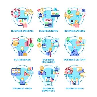 Encontro de negócios e notícias, empresária e empresário