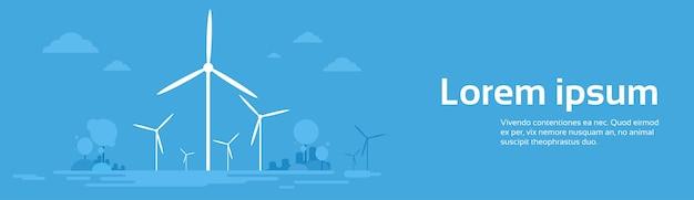 Energia alternativa da estação de vento
