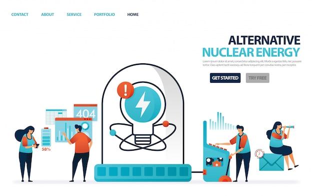 Energia alternativa nuclear para eletricidade, energia verde para um futuro melhor, laboratório ou laboratório para pesquisa de baterias de lítio.