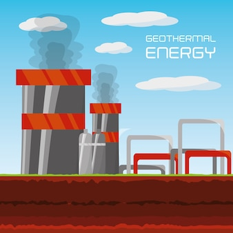 Energia de gerador geotérmica de conceito plana