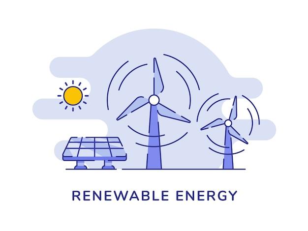 Energia renovável eólica energia solar