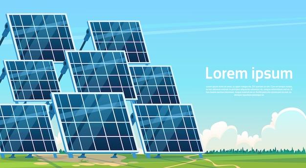 Energia solar, painel, renovável, estação, natureza, fundo