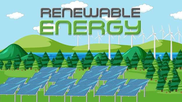 Energia verde gerada por painel solar