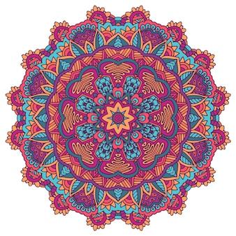 Enfeite indiano floral estampado com estampa de toalha mandala étnica