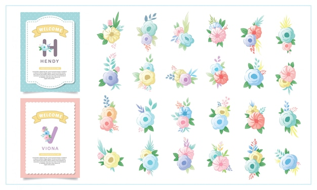 Enfeites de flores para bebês fofos