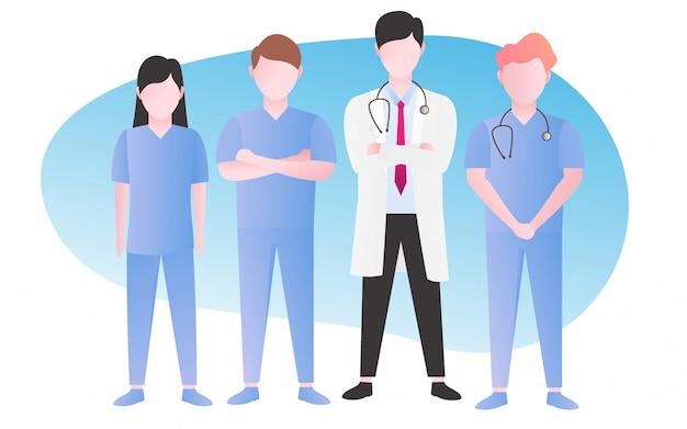 Enfermeira e médico no hospital
