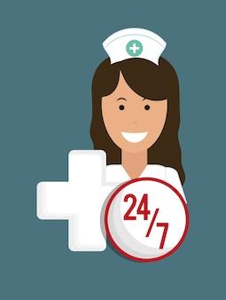 Enfermeiro serviço médico atravessar 24-7