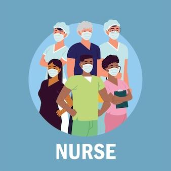 Enfermeiros profissionais de saúde de pessoal