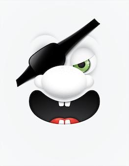 Enfrenta piratas de olhos de desenho animado.