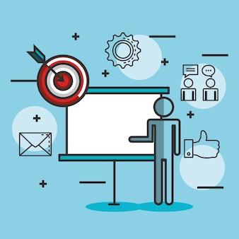 Engage ícones de conjunto de negócios