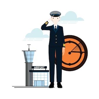 Engenharia de ícone plano e negócios
