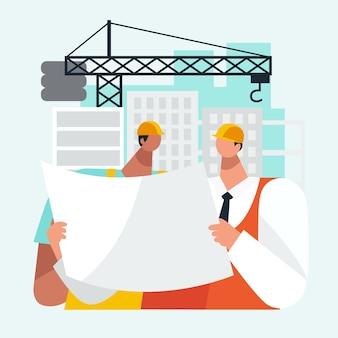 Engenharia e construção plana