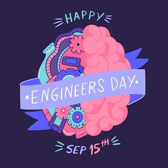 Engenheiros dia conceito