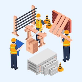 Engenheiros trabalhando na construção
