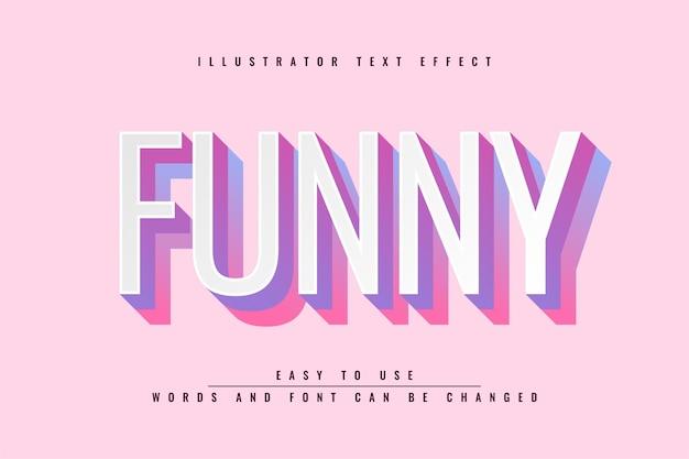 Engraçado - efeito de texto editável do illustrator