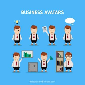 Engraçado embalagem avatares de negócios