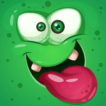 Engraçado, fofo, personagens do monstro louco. ilustração de halloween