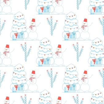Engraçado natal festivo bonito ano novo padrão sem emenda