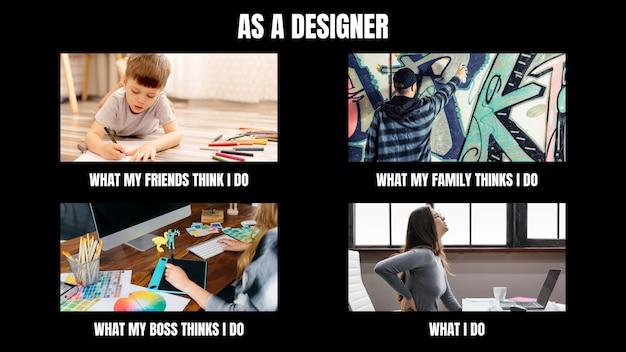 Engraçado o que eles pensam que eu faço design de meme
