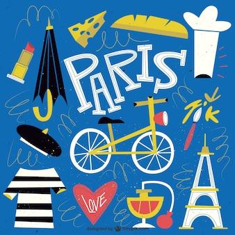 Engraçado paris ilustração