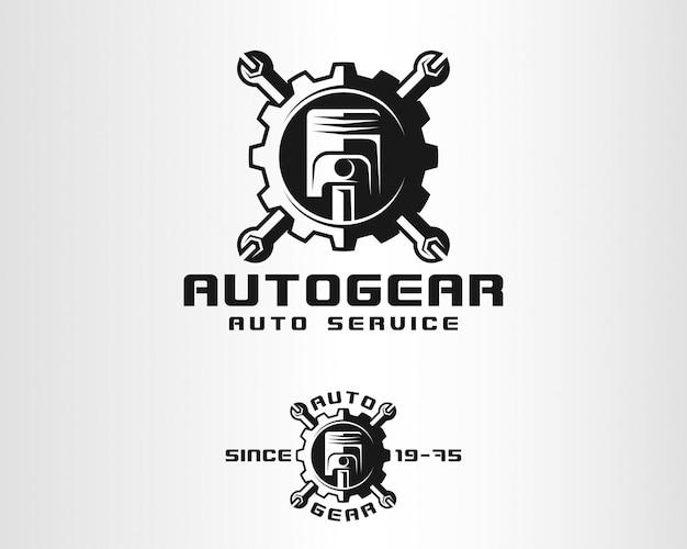 Engrenagem automática - auto service logo