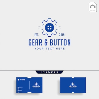 Engrenagem botão logotipo linha roupas industrial