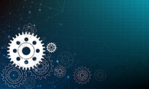 Engrenagem de círculo de vetor e fundo de tecnologia