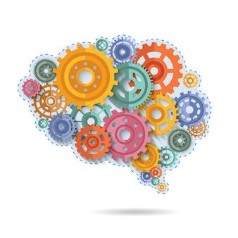 Engrenagens da cor do cérebro