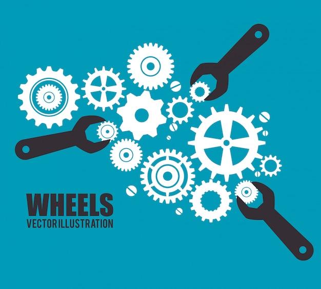 Engrenagens, engrenagens ou rodas
