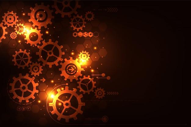 Engrenagens na forma de tecnologia e engenharia.
