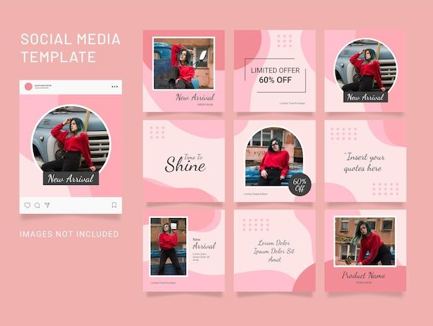 Enigma do instagram template fashion feed de mídia social