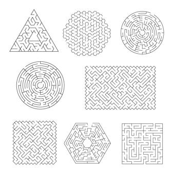 Enigma do labirinto do labirinto, encontrar caminho e sair procurando jogo lógico