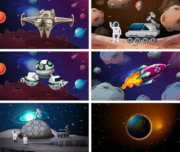 Enorme conjunto de cenas espaciais