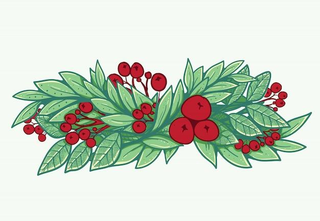Enquadramento de abeto para decoração de natal