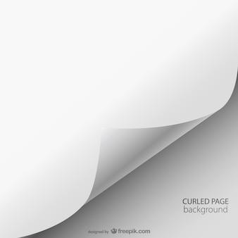 Enrolado página vetor