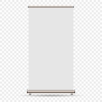 Enrole a bandeira isolada no fundo transparente