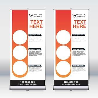 Enrole a faixa, puxe a faixa, x-banner, modelo de design de novo vetor vertical moderno